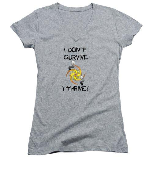 Thrive Women's V-Neck T-Shirt (Junior Cut) by Judi Saunders
