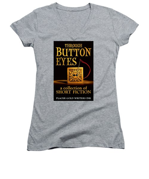 Through Button Eyes Women's V-Neck T-Shirt