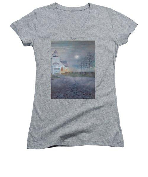 Through The Fog Women's V-Neck T-Shirt