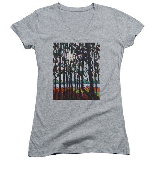 Through The Opinicon Forest Women's V-Neck (Athletic Fit)