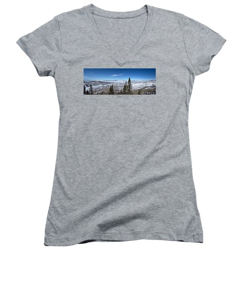 Through The Pines Women's V-Neck T-Shirt (Junior Cut)