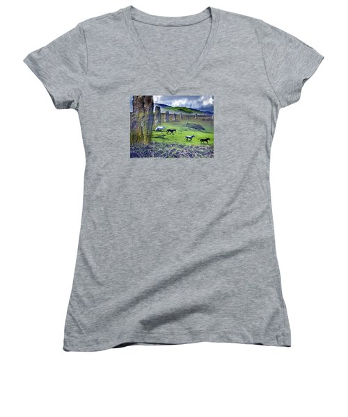 Through The Standing Stones Women's V-Neck (Athletic Fit)