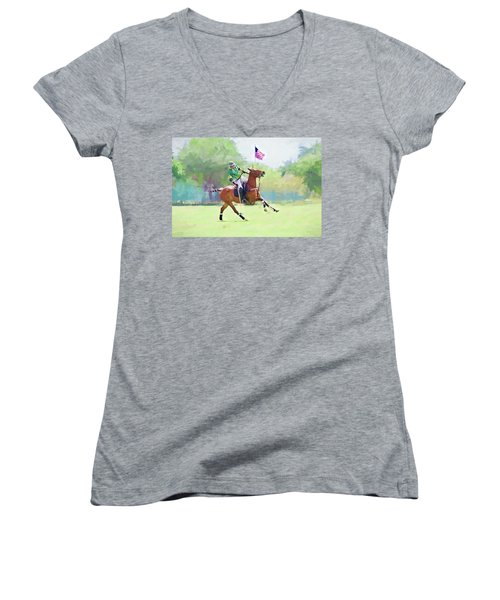 Women's V-Neck featuring the photograph Throw In by Alice Gipson