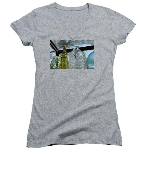 Thru The Looking Glass 2 Women's V-Neck T-Shirt (Junior Cut) by Megan Cohen