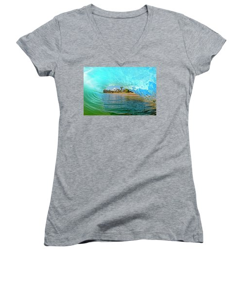 Thru The Looking Glass Women's V-Neck T-Shirt (Junior Cut) by James Roemmling