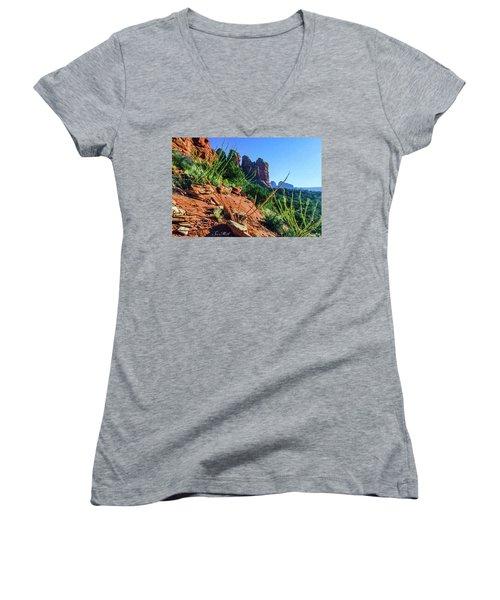Thunder Mountain 07-006 Women's V-Neck T-Shirt (Junior Cut) by Scott McAllister