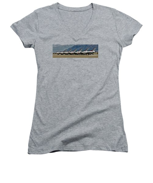 Thunderbirds Ready Women's V-Neck