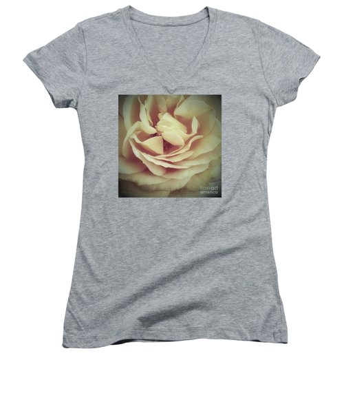 Ti Voglio Bene Mamma Women's V-Neck T-Shirt (Junior Cut) by Robert ONeil