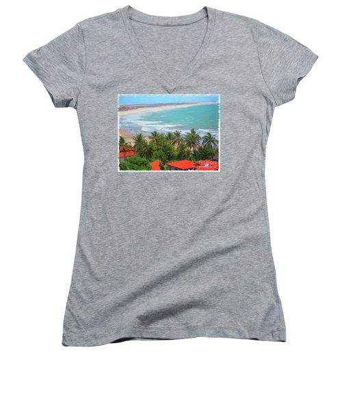 Tiabia, Brazil Beach Women's V-Neck T-Shirt