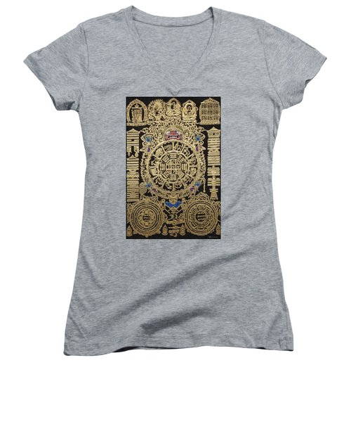 Tibetan Astrological Diagram Women's V-Neck T-Shirt