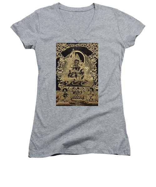 Tibetan Thangka - Vaishravana Women's V-Neck T-Shirt