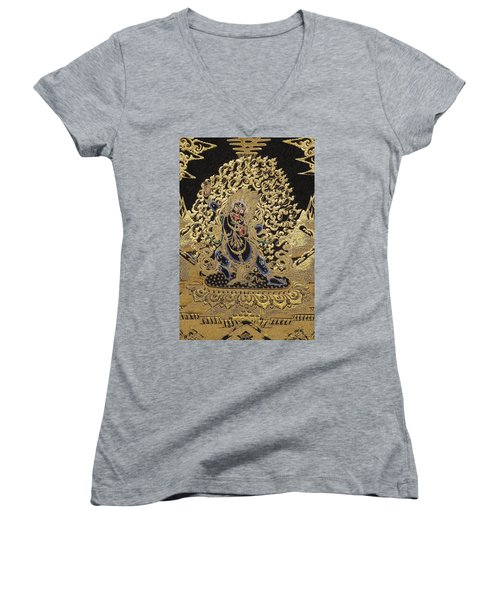Tibetan Thangka - Vajrapani  Women's V-Neck T-Shirt