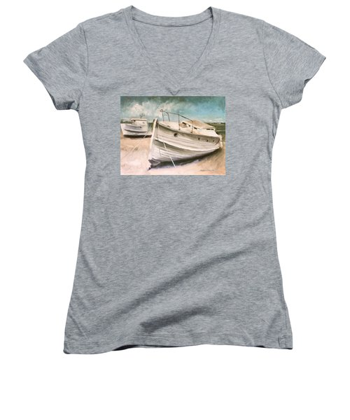 Tide Is Out Women's V-Neck T-Shirt