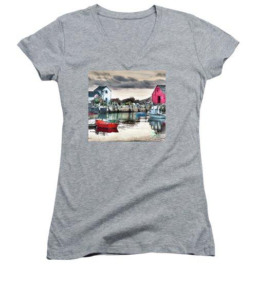 Tide's Out Women's V-Neck T-Shirt