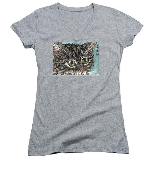 Tiger Cat Women's V-Neck