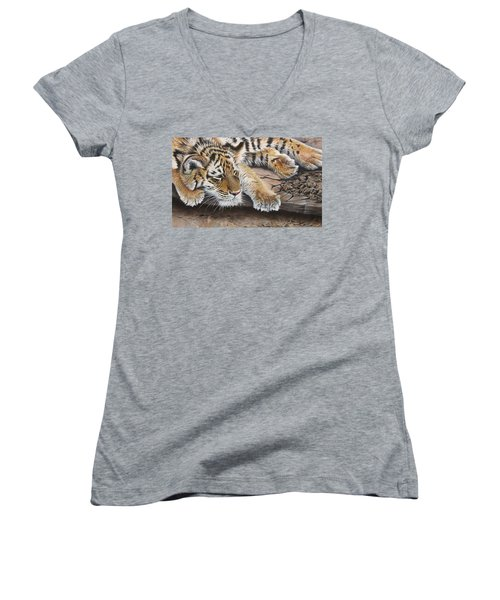 Tiger Cub Women's V-Neck