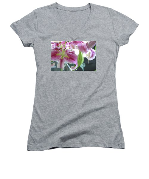 Tiger Lilies Women's V-Neck (Athletic Fit)