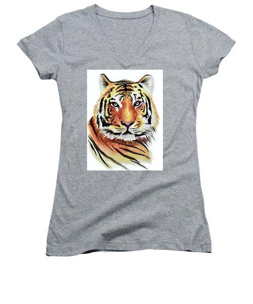 Tiger Love Women's V-Neck (Athletic Fit)