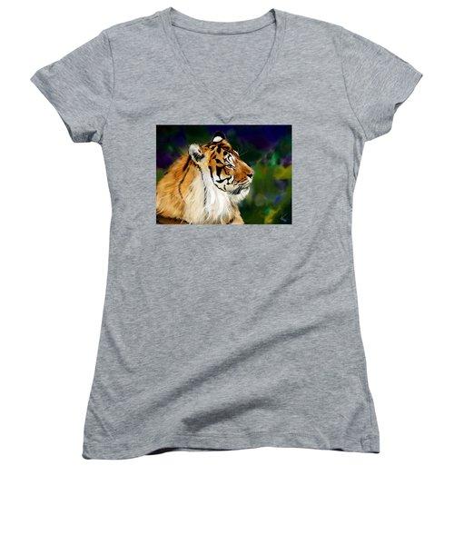 Tiger Women's V-Neck (Athletic Fit)