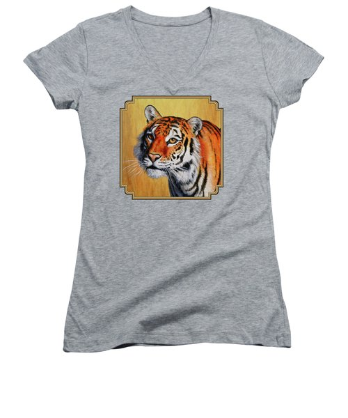 Tiger Portrait Women's V-Neck T-Shirt
