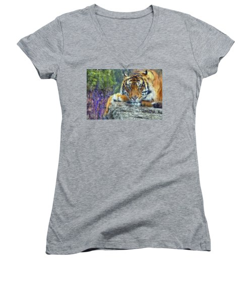 Tigerland Women's V-Neck (Athletic Fit)