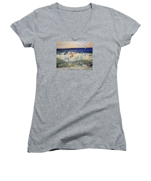 Tightrope Walking The Waves Women's V-Neck