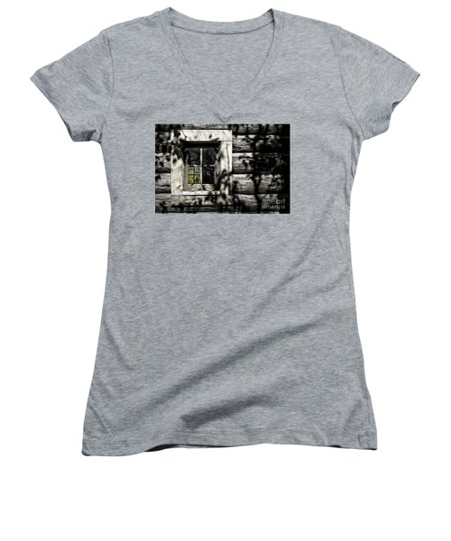 Women's V-Neck T-Shirt (Junior Cut) featuring the photograph Timber Hand-crafted by Brad Allen Fine Art