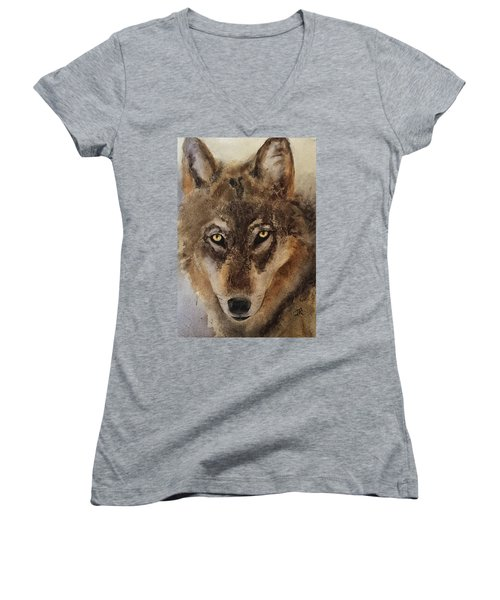 Timber Wolf Women's V-Neck (Athletic Fit)