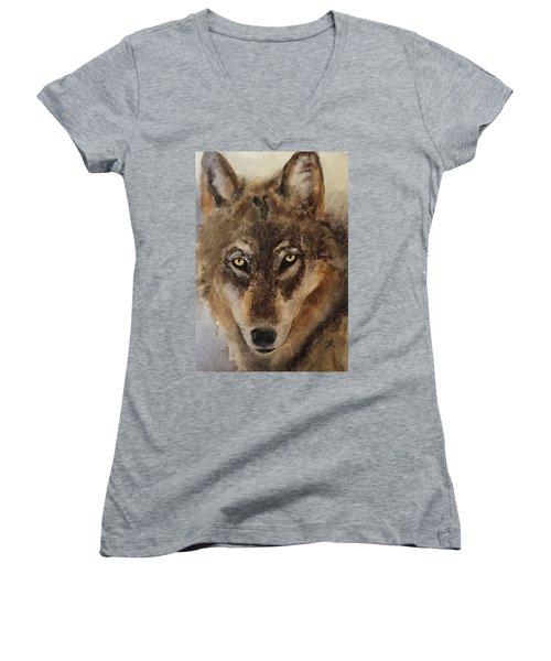 Timber Wolf Women's V-Neck T-Shirt