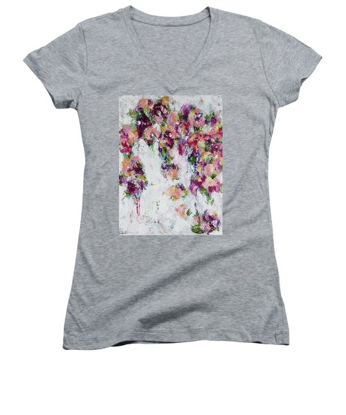 Time After Time Women's V-Neck T-Shirt (Junior Cut) by Kirsten Reed