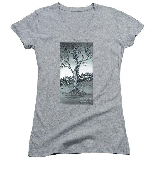 Time Bandits Women's V-Neck T-Shirt (Junior Cut) by Kenneth Clarke
