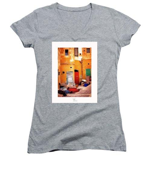 Time Bubble Women's V-Neck T-Shirt