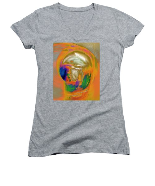 Time Expired Women's V-Neck (Athletic Fit)
