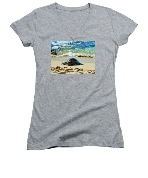 Time For A Rest Women's V-Neck T-Shirt (Junior Cut) by Craig Wood