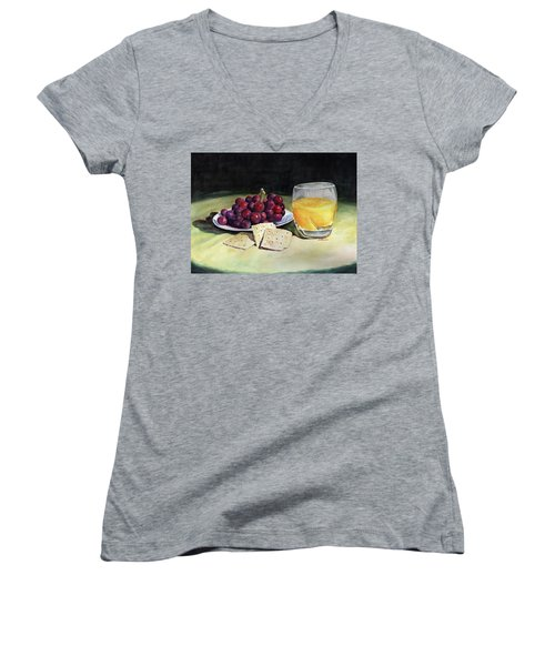 Time For A Snack Women's V-Neck (Athletic Fit)
