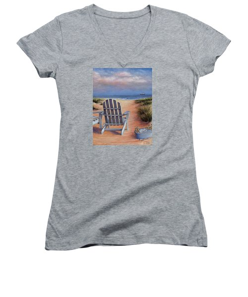 Time To Chill Women's V-Neck (Athletic Fit)