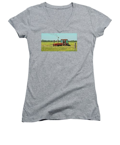 Time To Mow Women's V-Neck (Athletic Fit)