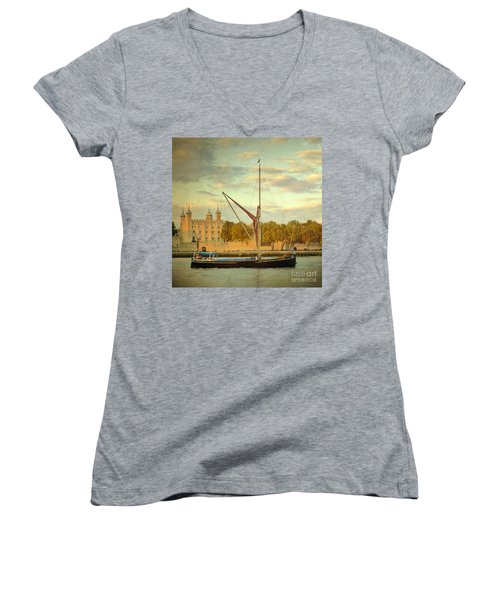 Women's V-Neck T-Shirt (Junior Cut) featuring the photograph Time Travel by LemonArt Photography