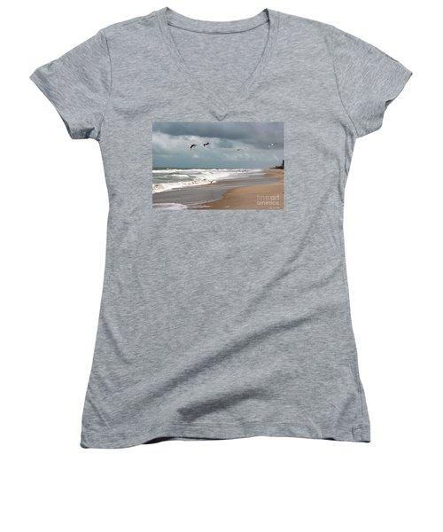 Timeless Women's V-Neck T-Shirt (Junior Cut) by Megan Dirsa-DuBois