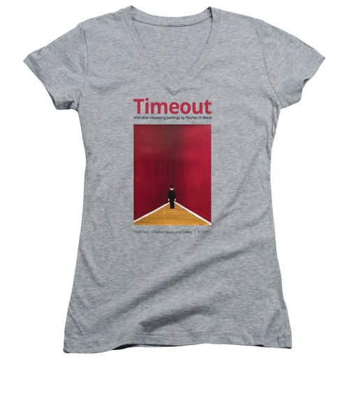 Timeout T-shirt Women's V-Neck T-Shirt (Junior Cut) by Thomas Blood