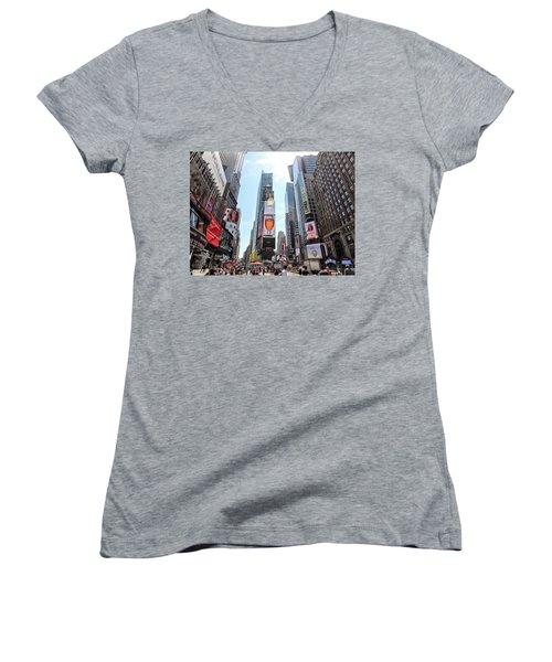 Times Square Women's V-Neck