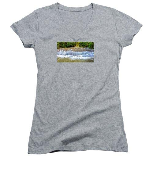Tinton Falls After The Rain Women's V-Neck T-Shirt (Junior Cut) by Gary Slawsky
