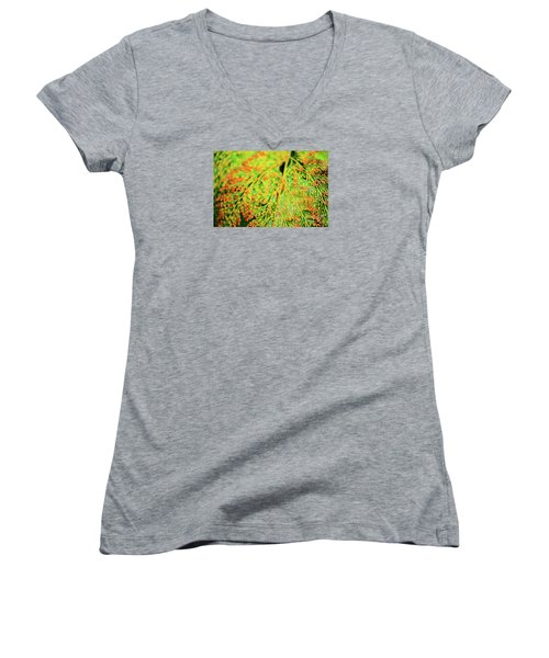 Tiny Flowers Blooming  Women's V-Neck