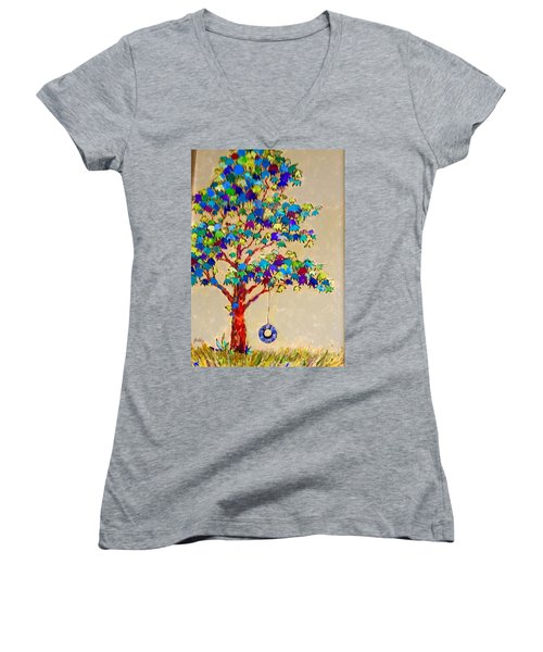 Tired Tree Women's V-Neck T-Shirt