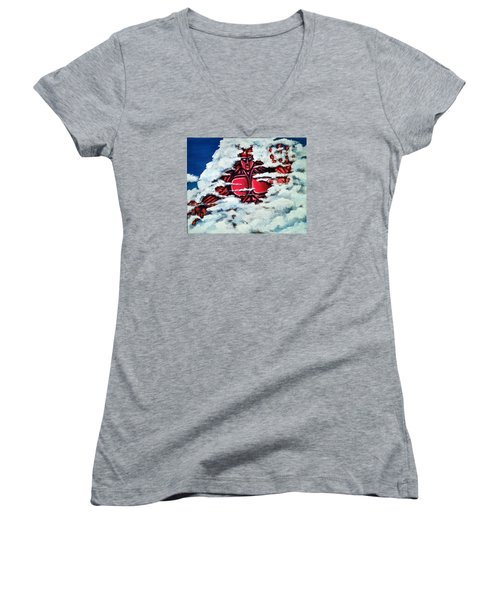 Titan Women's V-Neck T-Shirt (Junior Cut) by Chris Benice