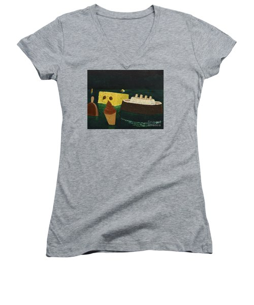 Titanic's Birthday Women's V-Neck T-Shirt