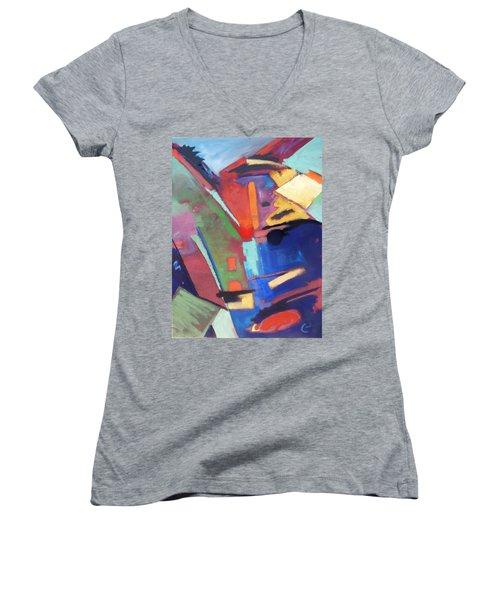 Title? Women's V-Neck T-Shirt (Junior Cut) by Gary Coleman