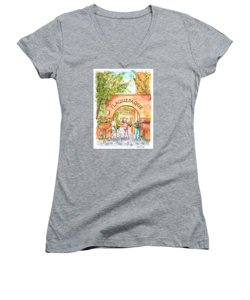 Tlaquepaque Gallery In Sedona, Arizona Women's V-Neck (Athletic Fit)