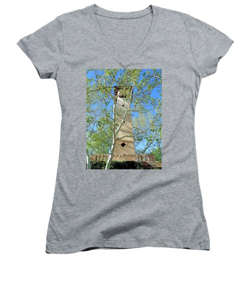Tlaquepaque Tower Women's V-Neck T-Shirt