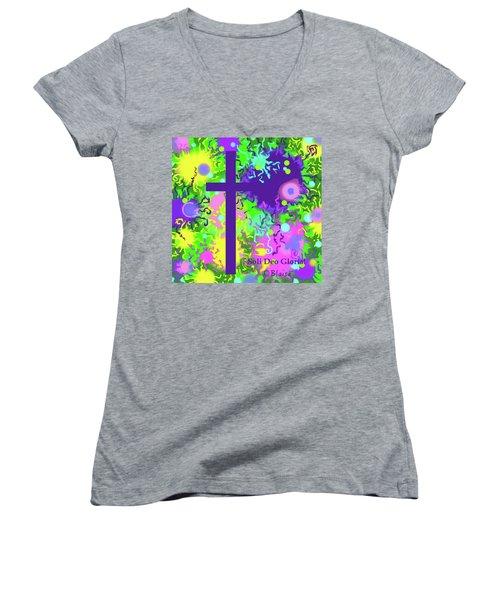 To God Be The Glory Women's V-Neck T-Shirt